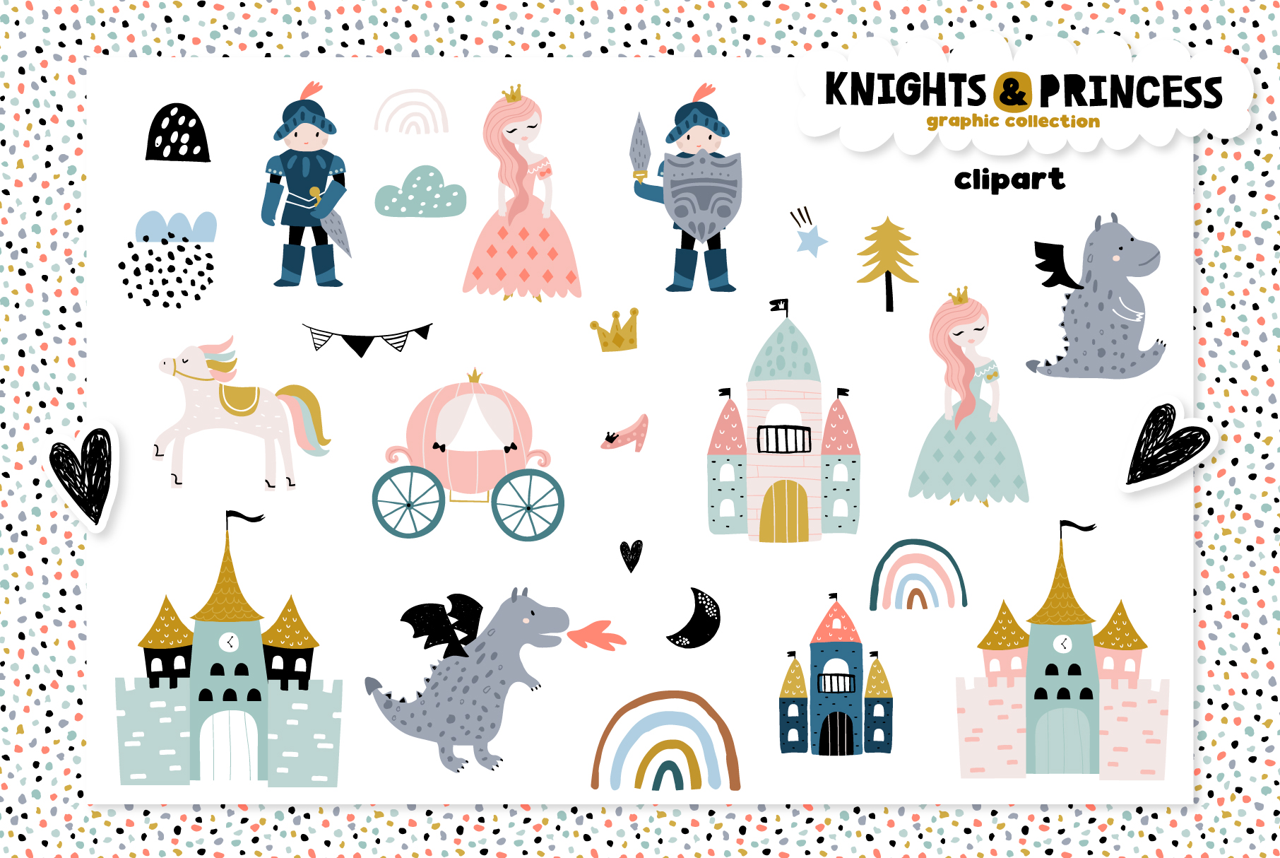 Knights & Princess graphic set example image 7