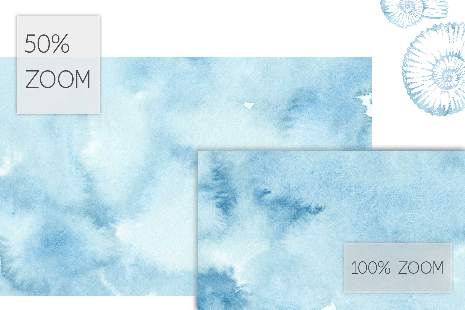 20 Huge Seamless Blue Watercolor Textures example image 4