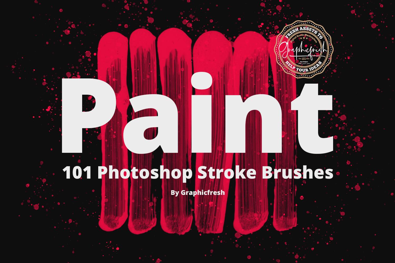 101 Photoshop Paint Stroke Brushes example image 1