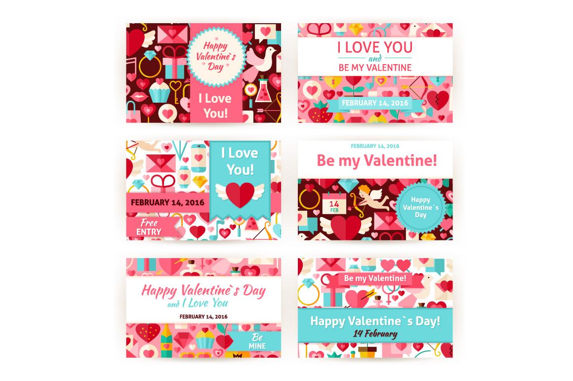 Valentines Day Horizontal Invitation example image 2
