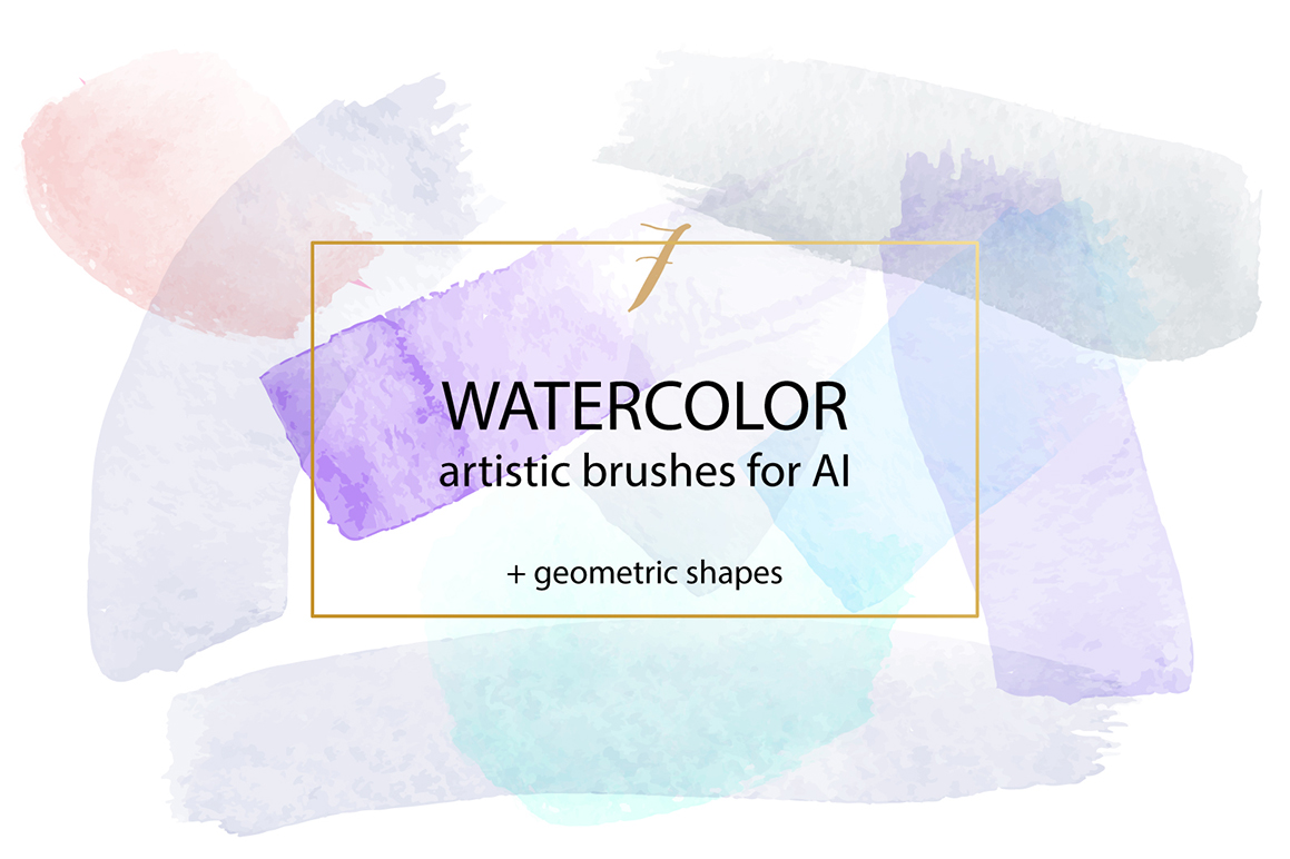 Watercolour Brushes Vector for Adobe Illustrator example image 1