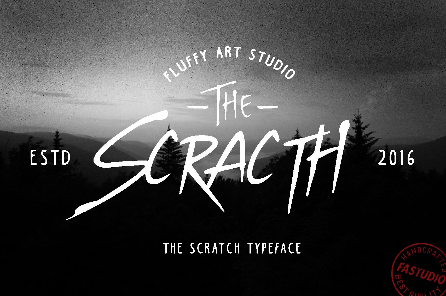 SCRATCH Typeface example image 2