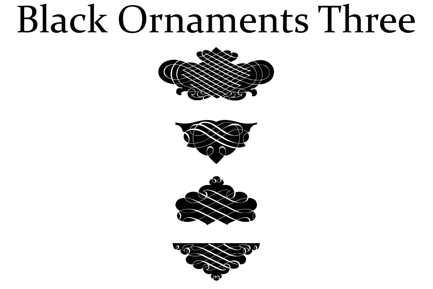 Black Ornaments Three example image 2