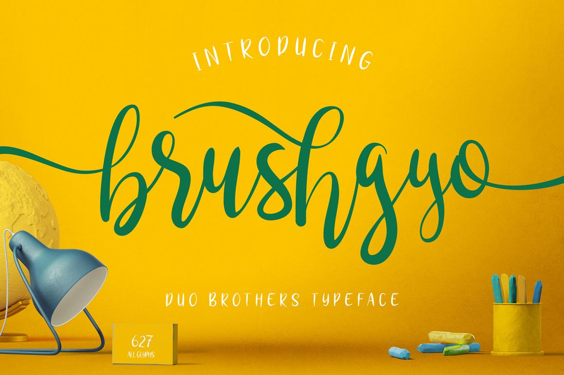 brushgyo typeface example image 1