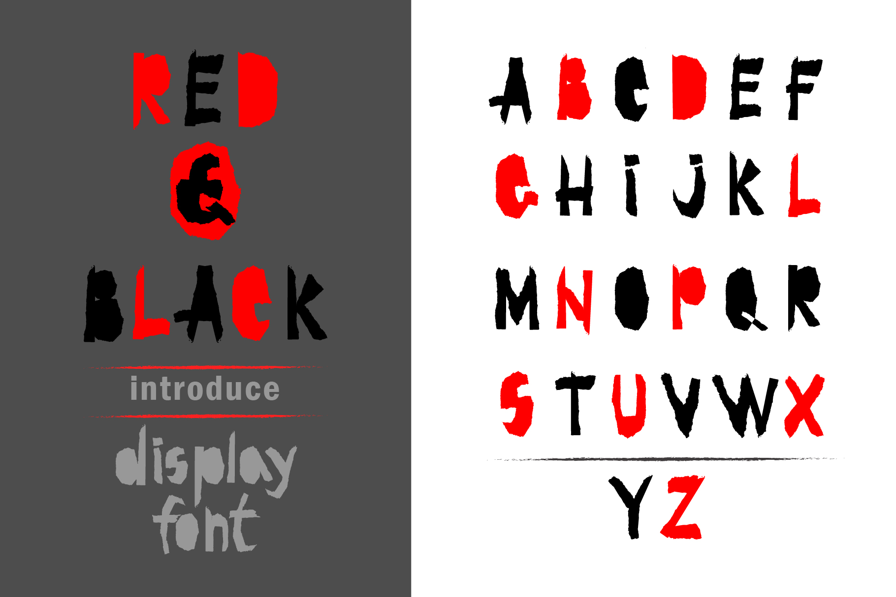 Red-and- Black OTF font example image 1