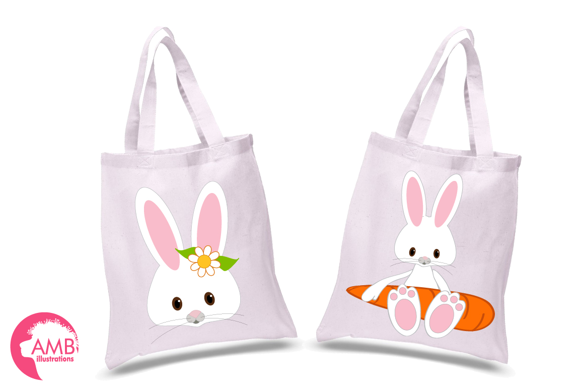 Easter Bunnies clipart, graphics, illustrations AMB-370 example image 3