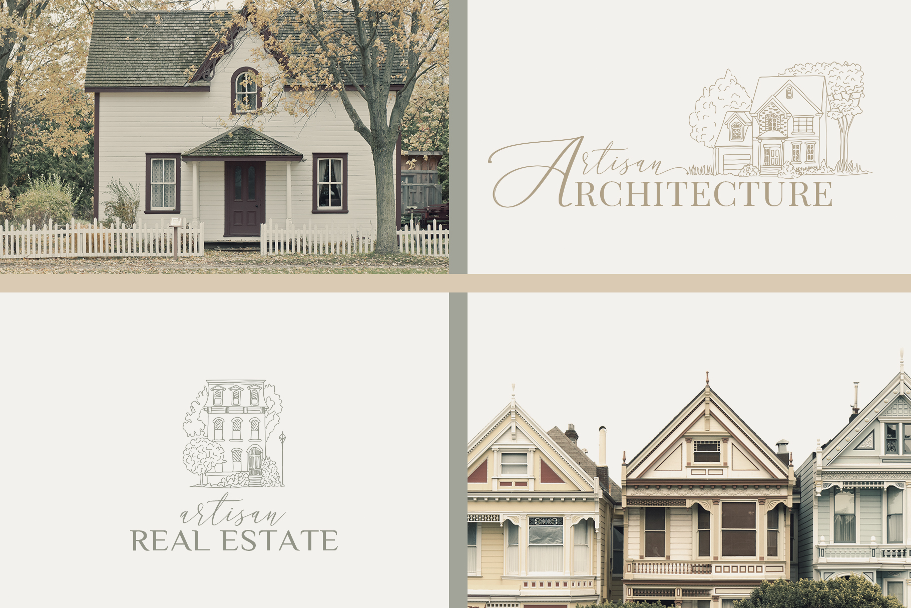 Venues Houses Watercolor , Sketch , Vector Graphics example image 13