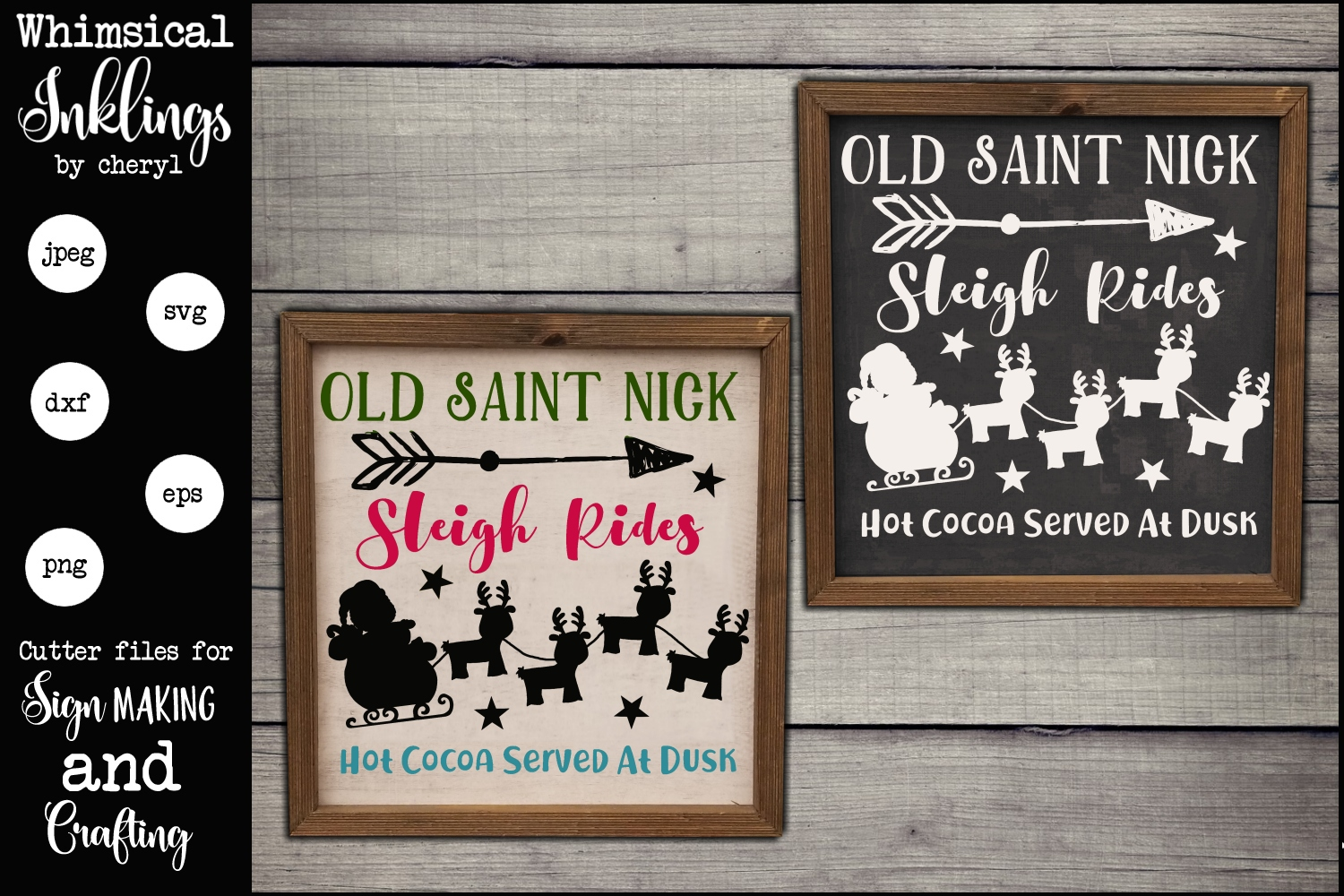 Old Saint Nick Sleigh Rides SVG example image 1