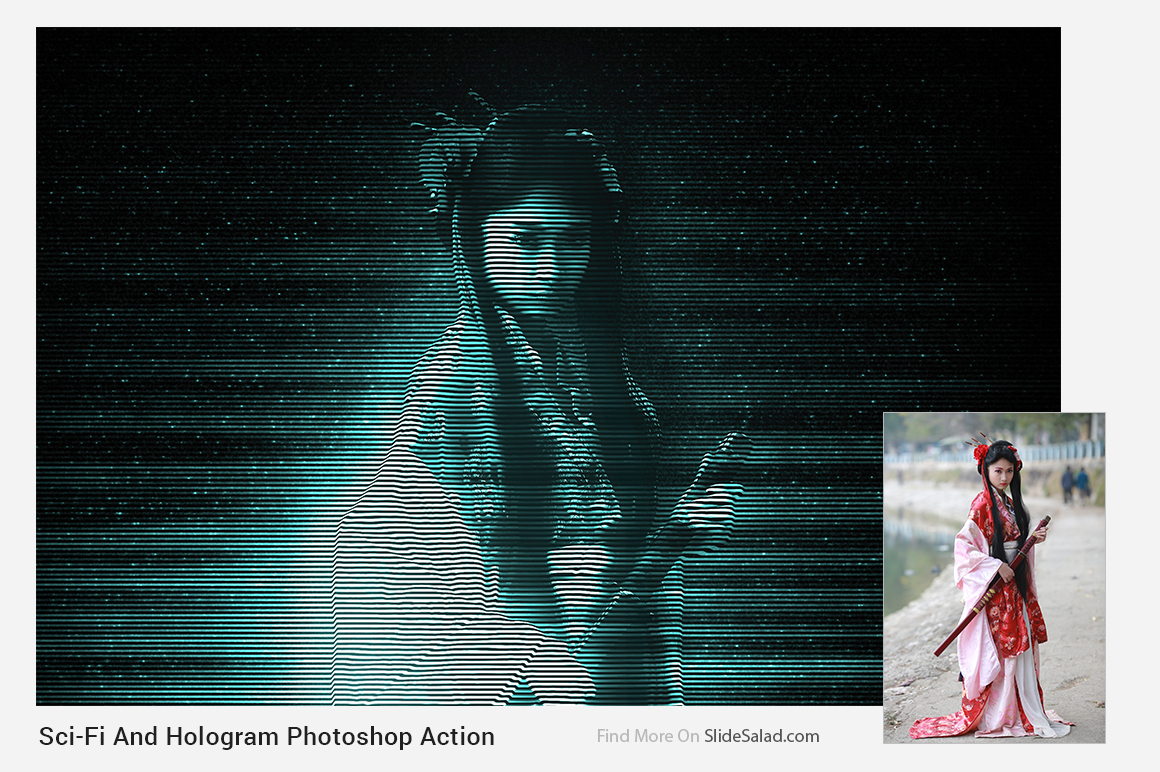 Sci-Fi And Hologram Photoshop Action example image 2