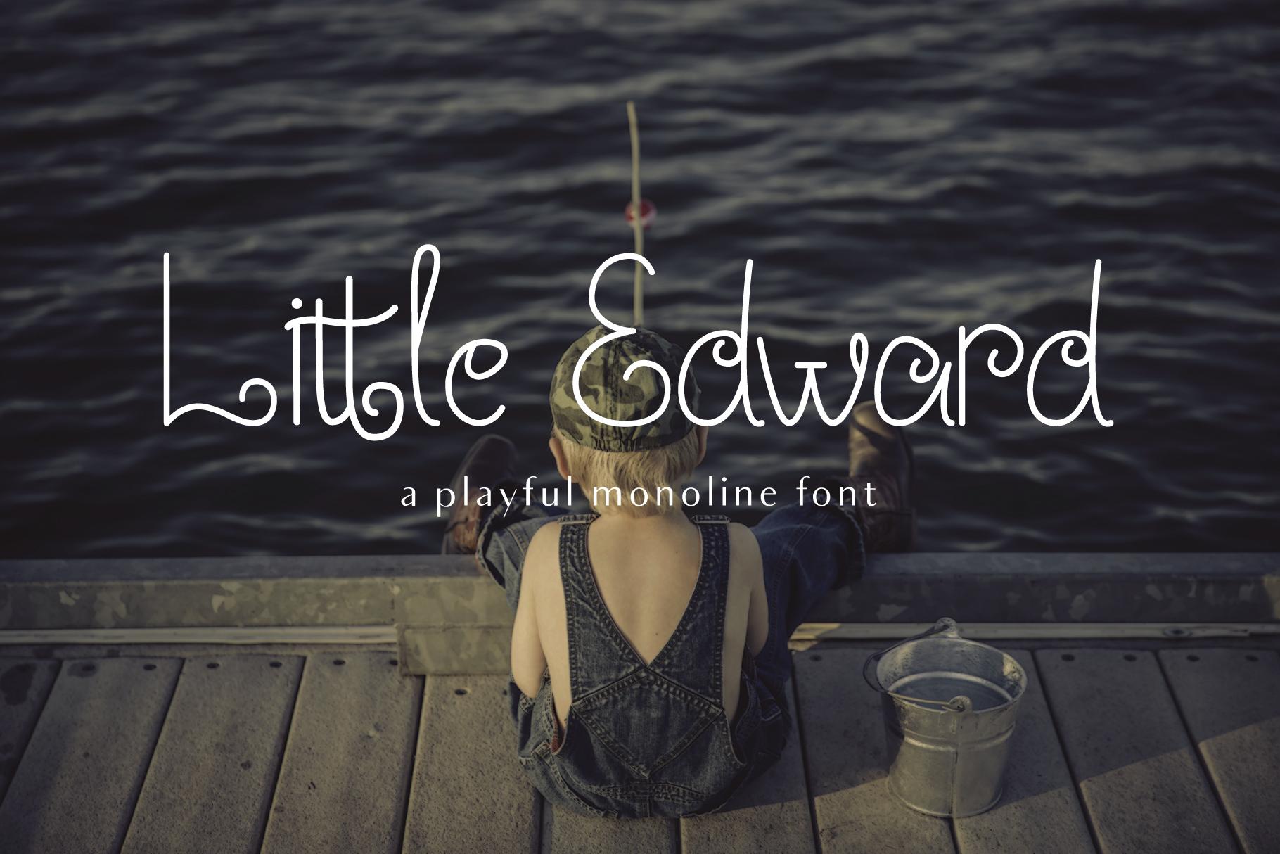 Little Edward - Childish font example image 1