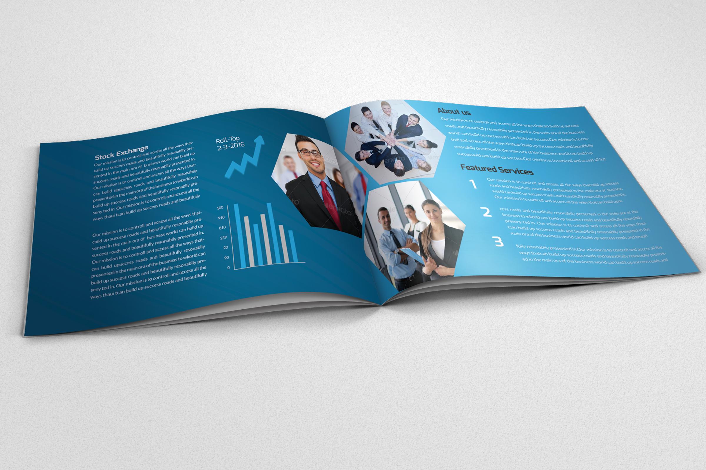 Business Corporate Bifold Brochure example image 2