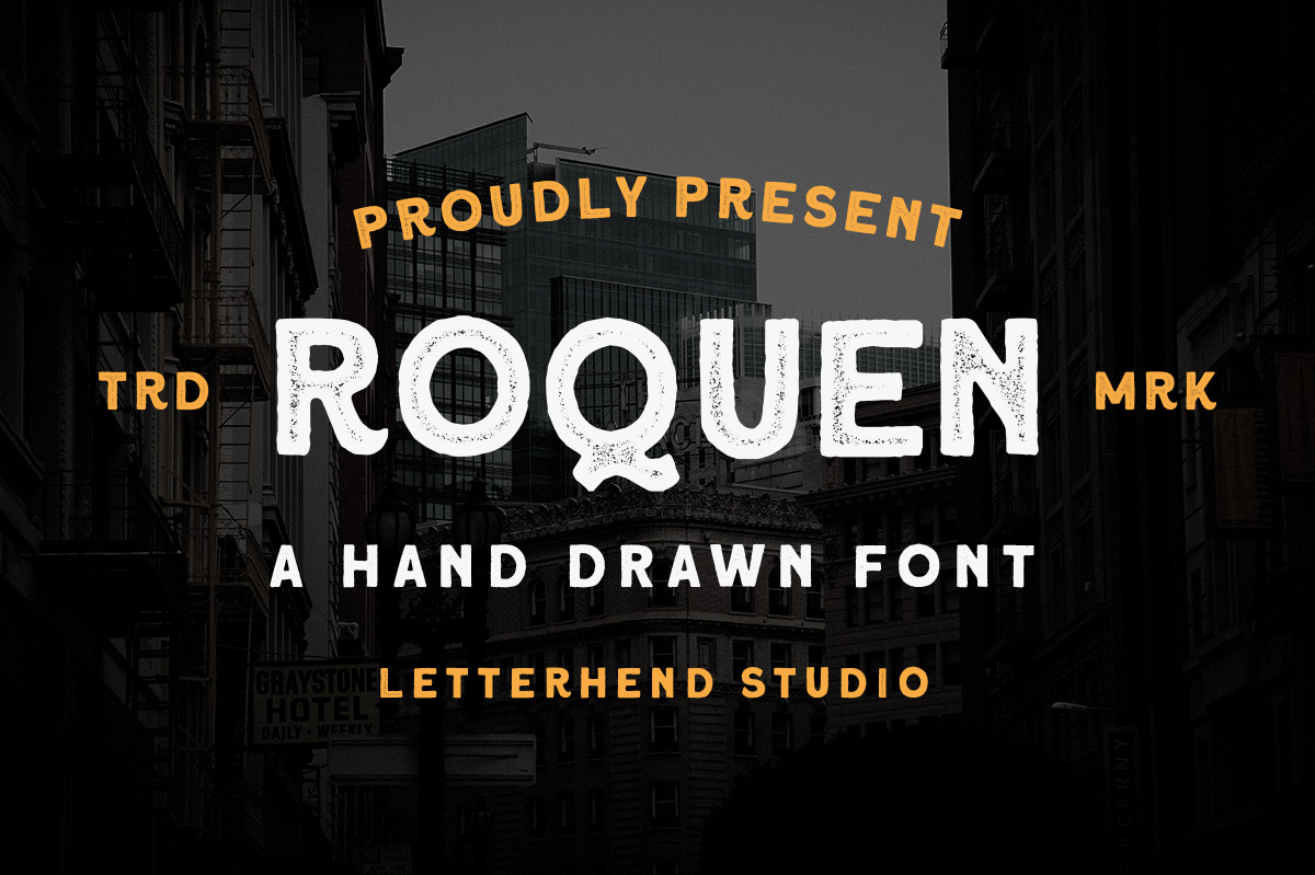 Roquen - A Hand Drawn Typeface example image 1
