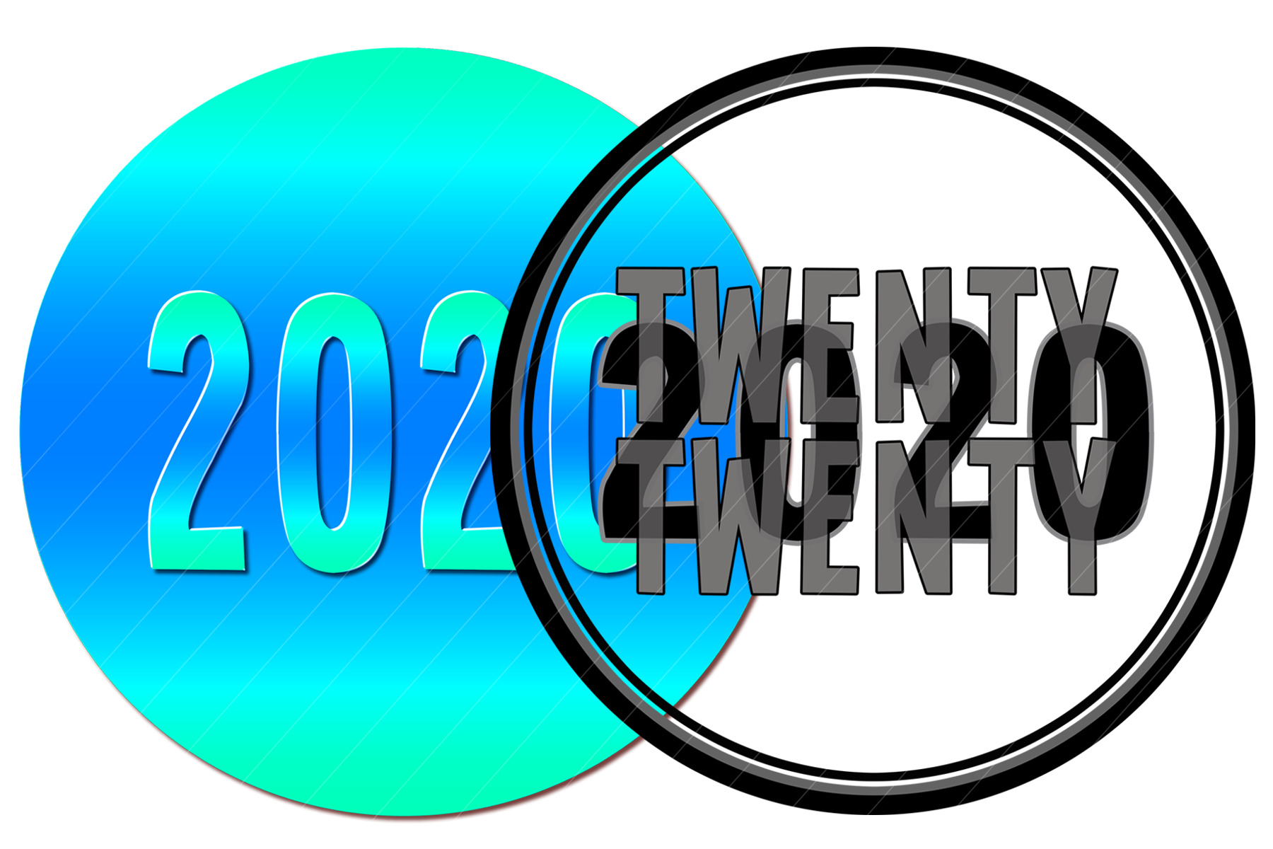 2020 New Year Designs for PRINTING, High Resolution example image 8