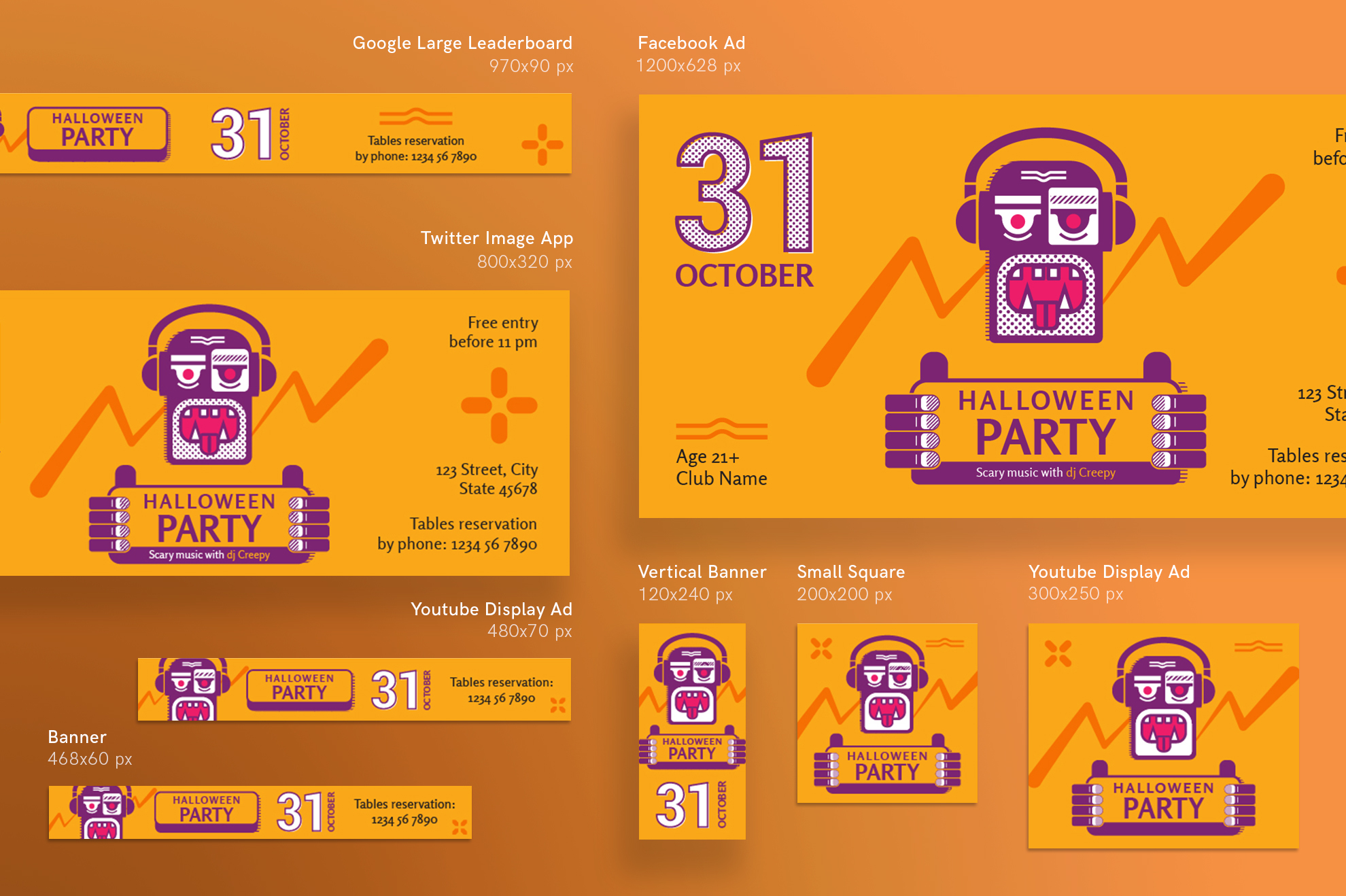 Halloween Party Design Templates Bundle example image 6
