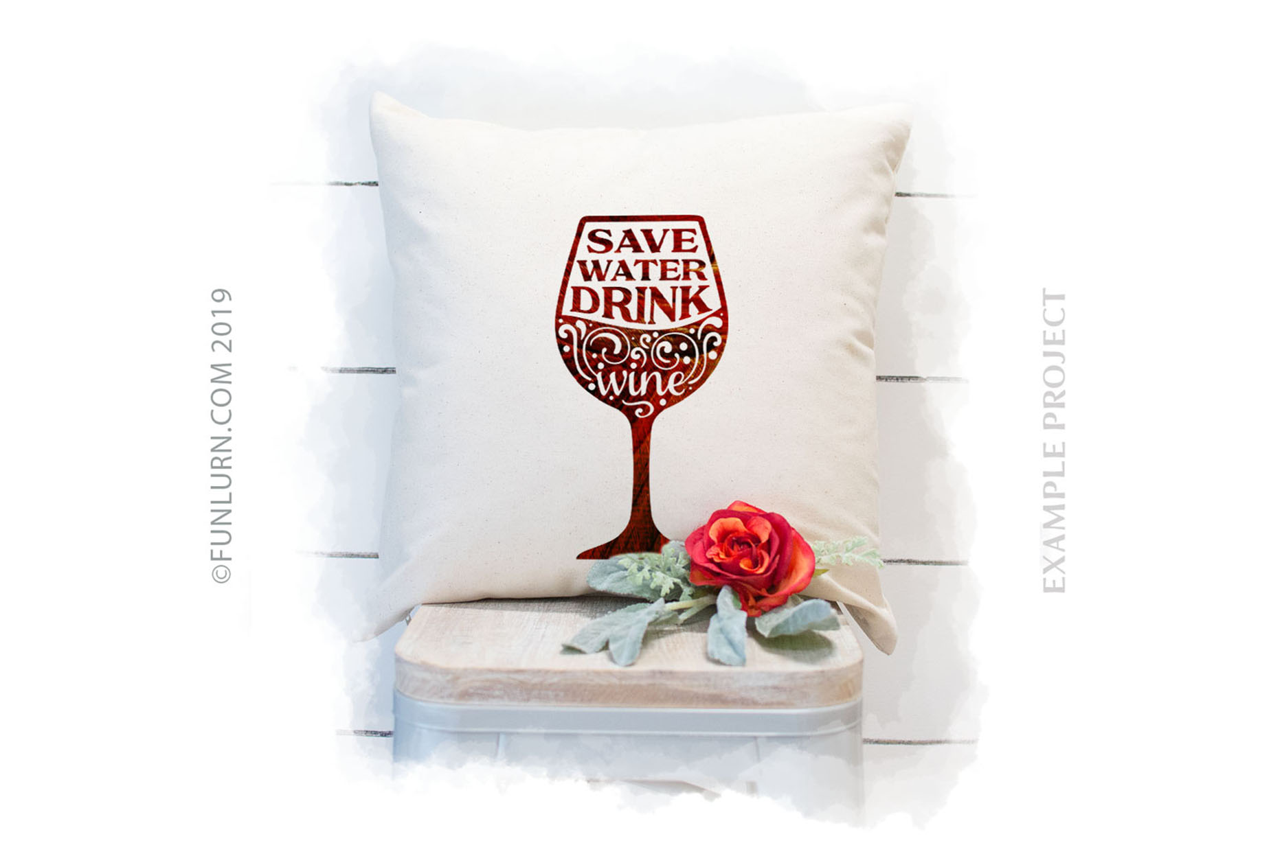 Save Water Drink Wine SVG Cut File example image 3