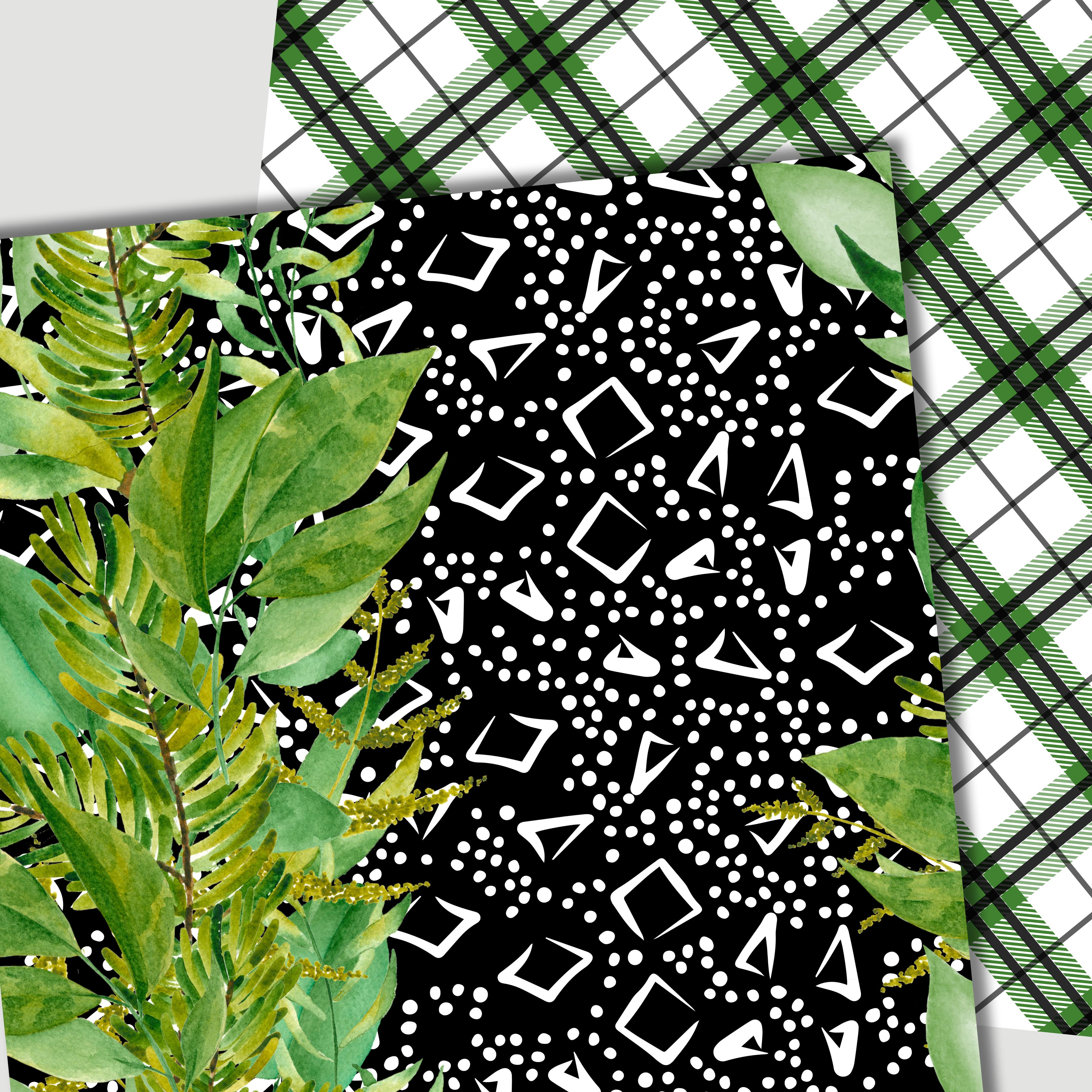 Green leaves paper example image 2