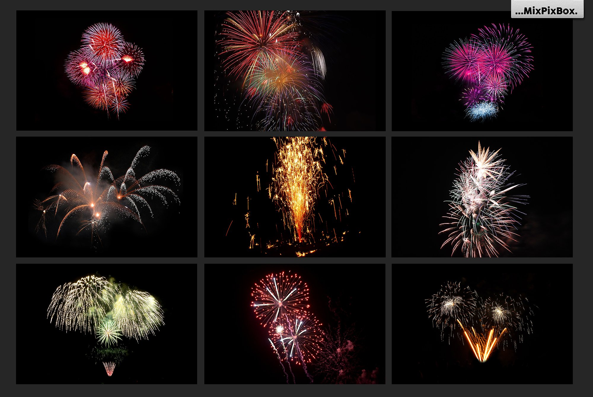 100 Fireworks Overlays example image 8