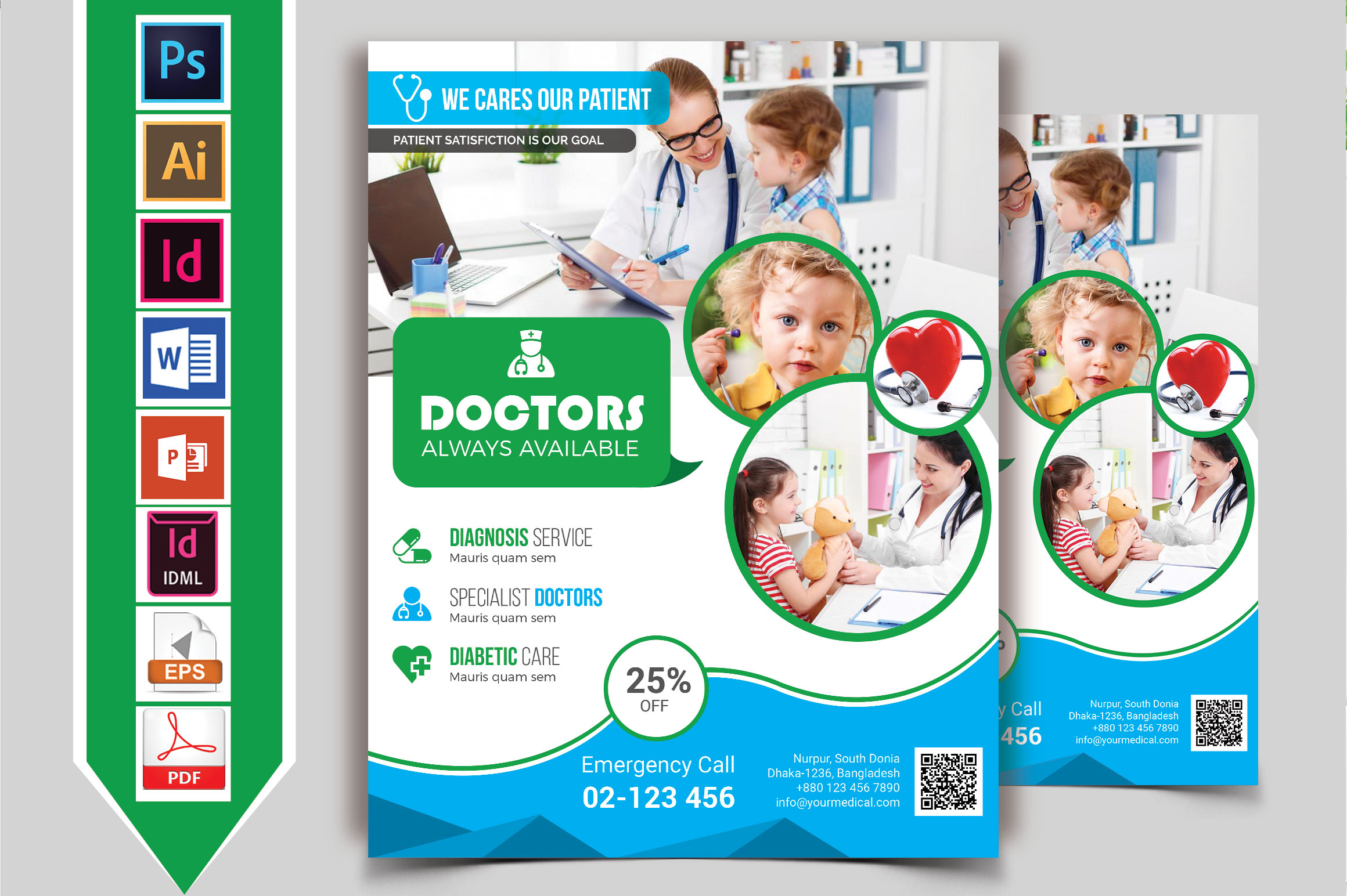 Doctor & Medical Flyer. Vol-06 example image 2