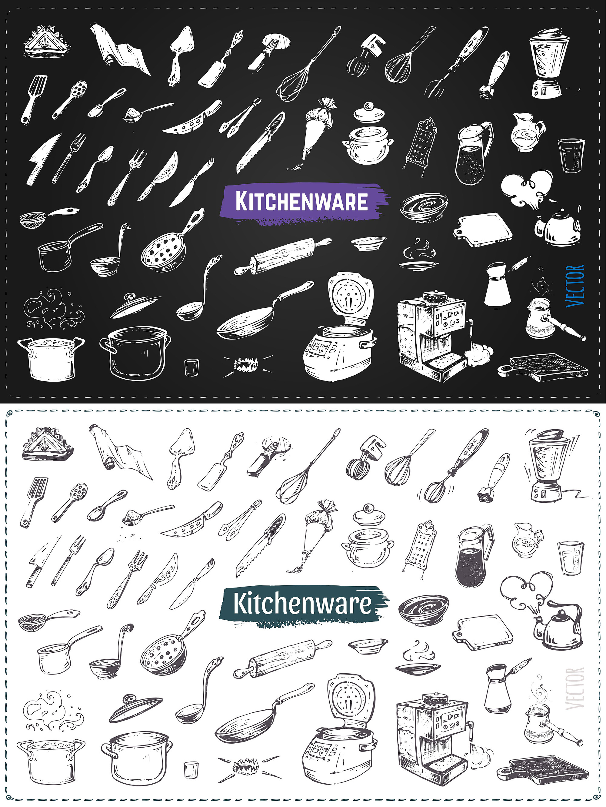 Hand drawn cooking and food icons example image 18
