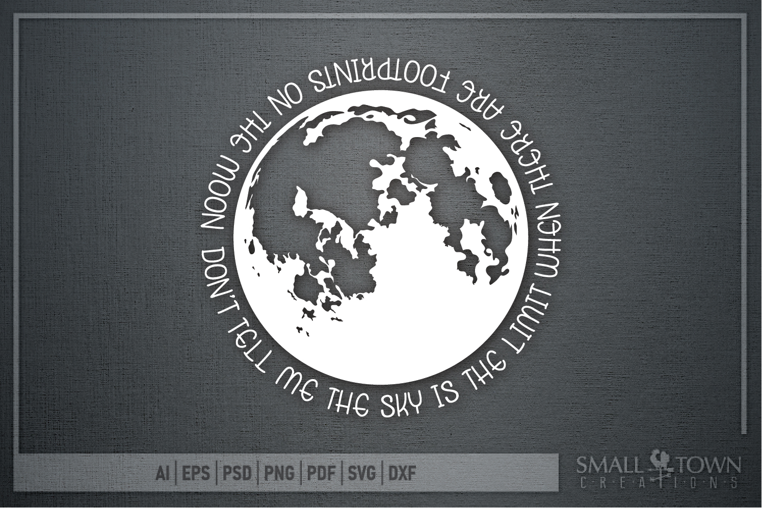 Moon, Moon logo, Space, Quote, Saying, PRINT, CUT & DESIGN example image 6