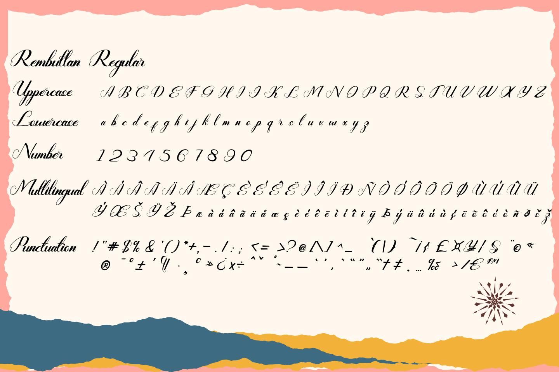 Rembullan Script Family Font example image 11