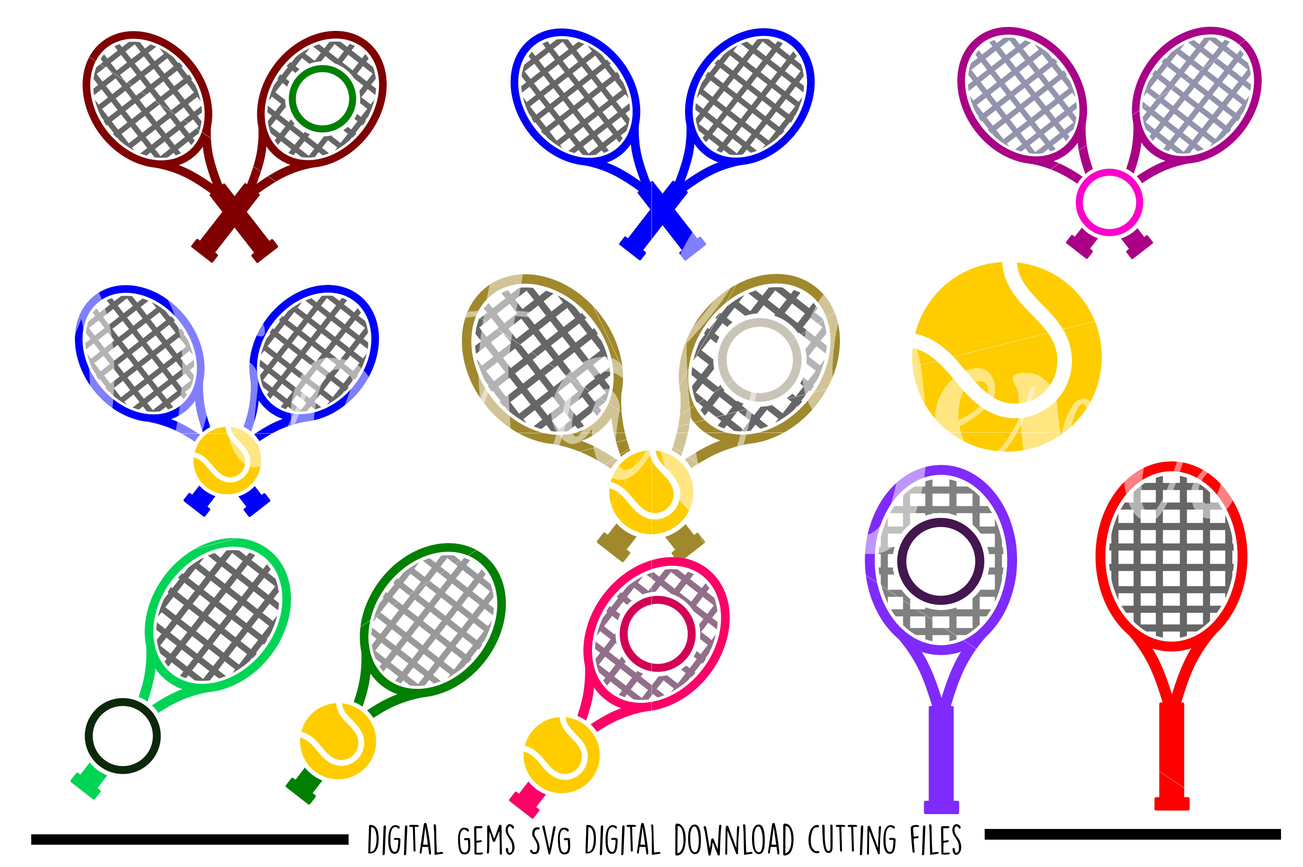 Tennis SVG / PNG / EPS / DXF files example image 1