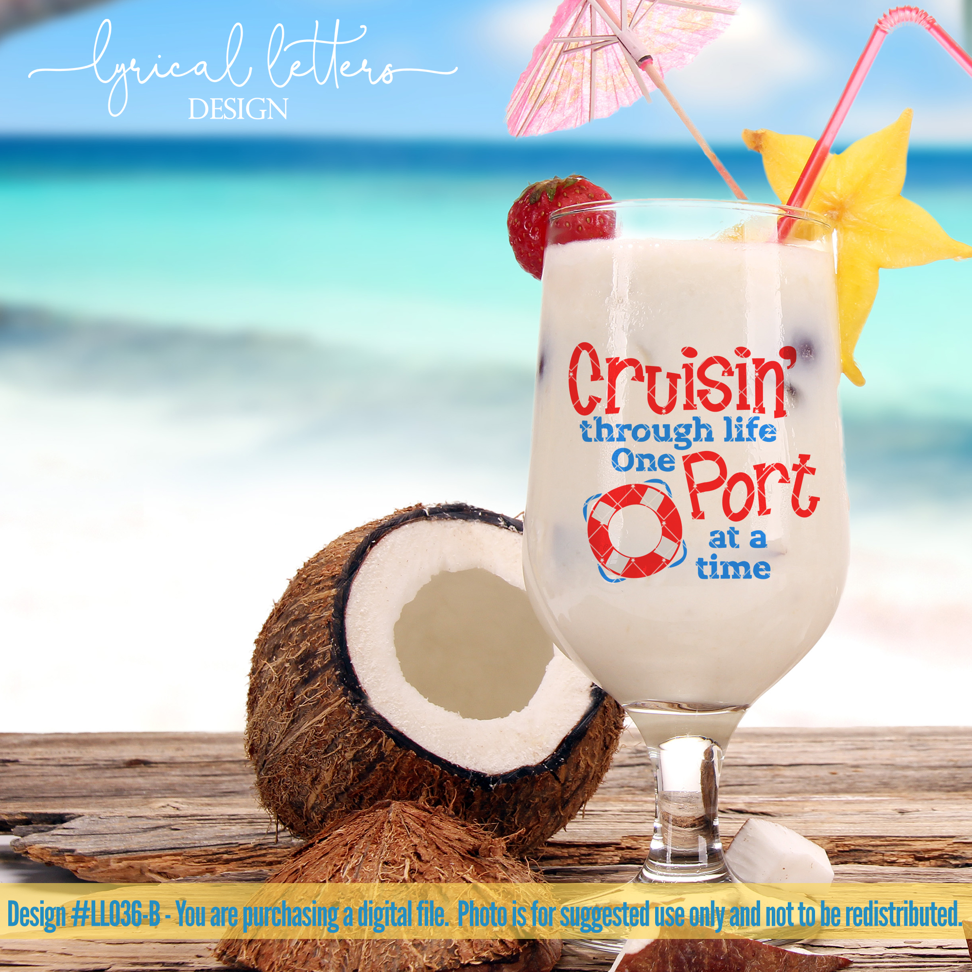 Cruisin' Through Life One Port At A Time SVG DXF LL036B example image 2