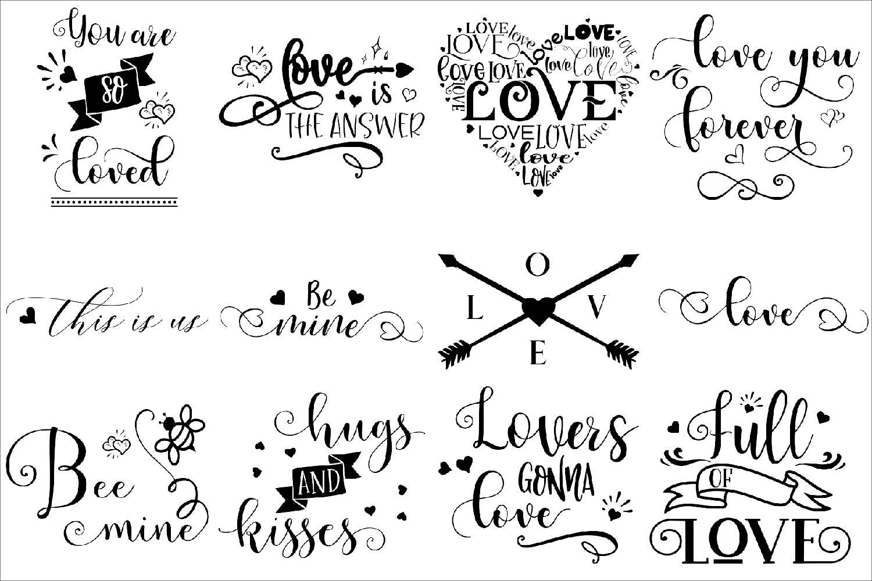 Love BUNDLE - svg cut files example image 2