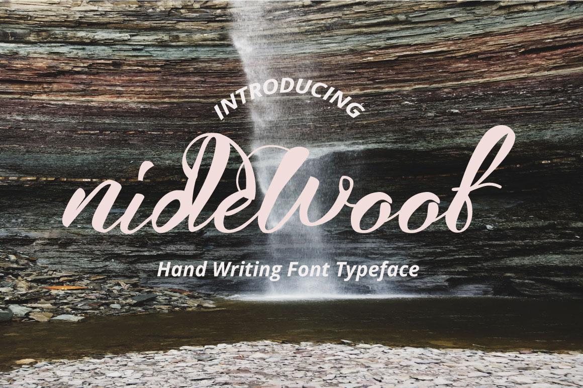 nidewoof font example image 1