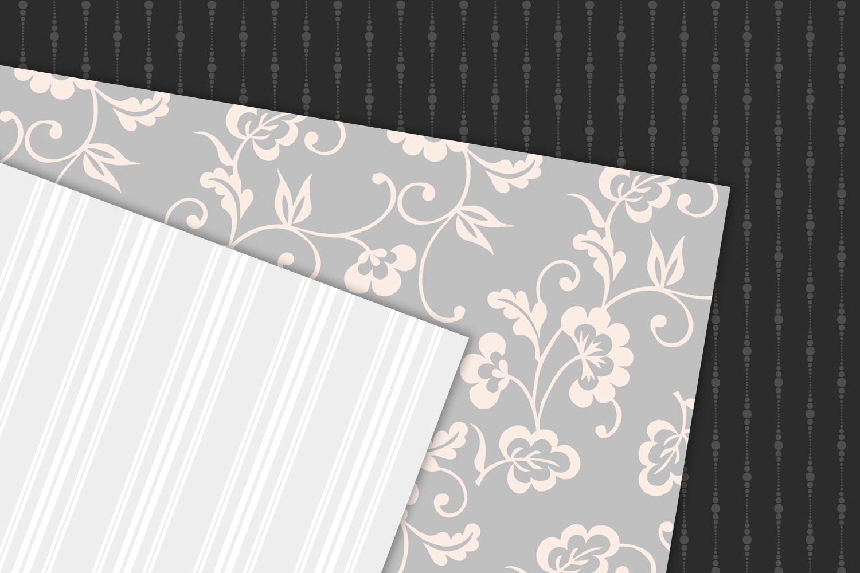 Classic Wedding Digital Paper example image 2