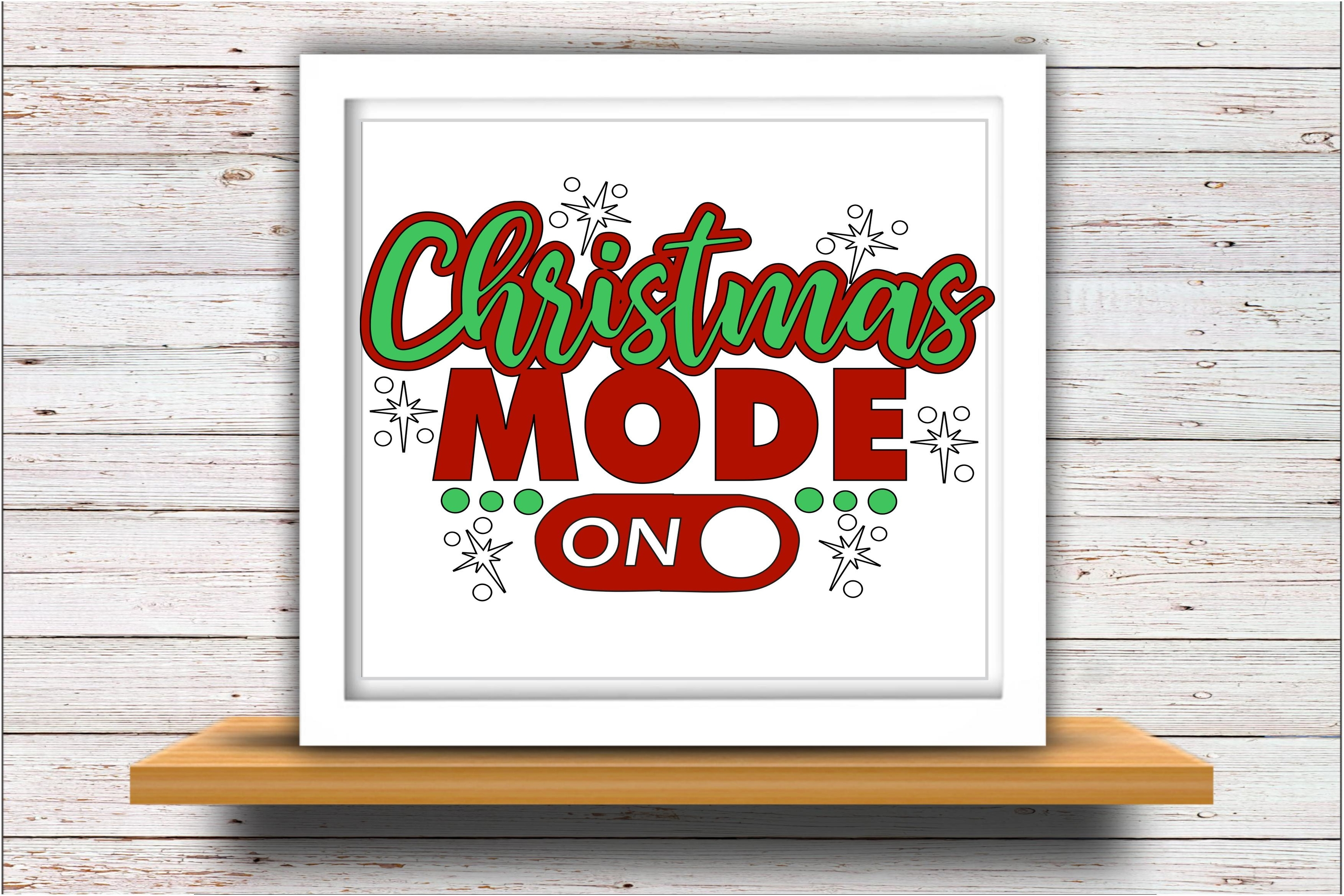 Christmas SVG DXF JPEG Silhouette Cameo Cricut Mode on svg example image 2