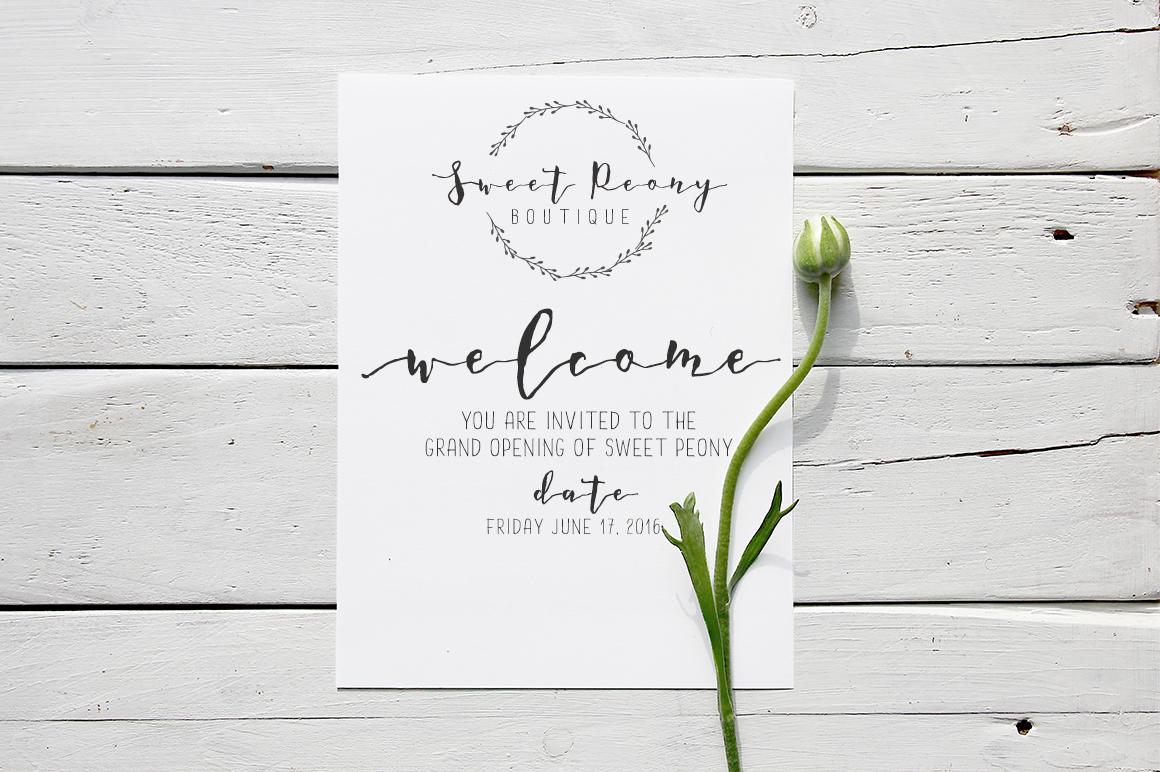 A Romantic font - Dear June example image 3