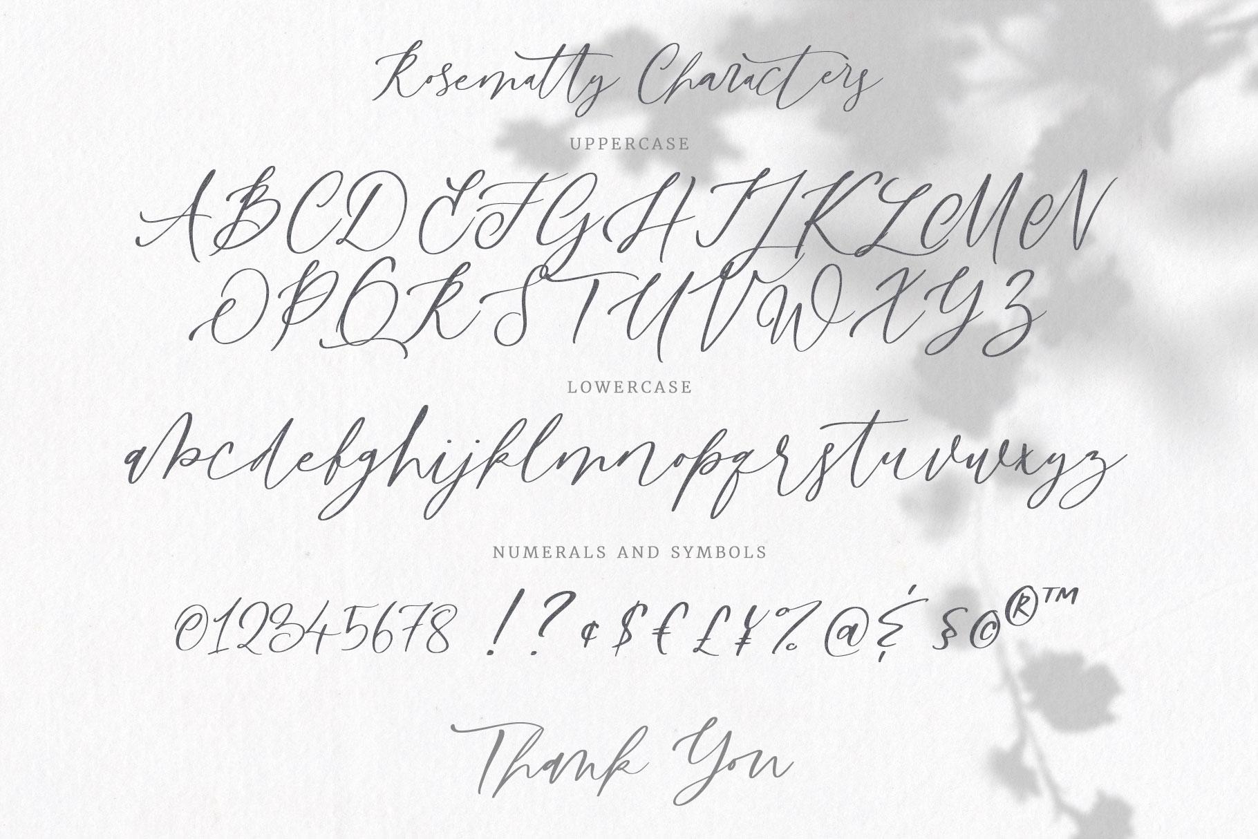 Rosematty Font example image 8