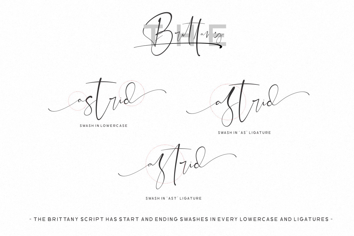 The Brittany // Font Trio example image 17