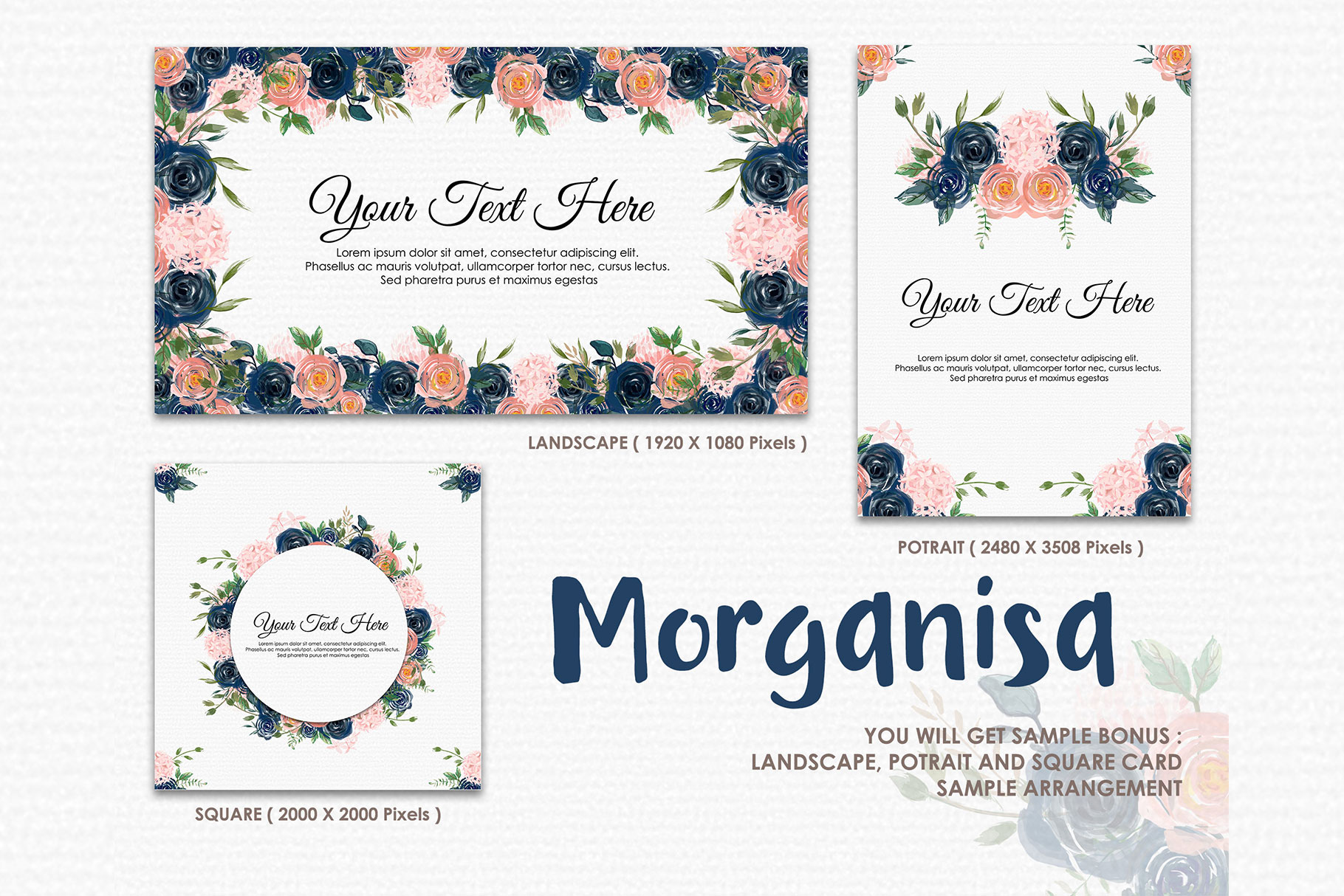 Morganisa - Digital Watercolor Floral Flower Style Clipart example image 4