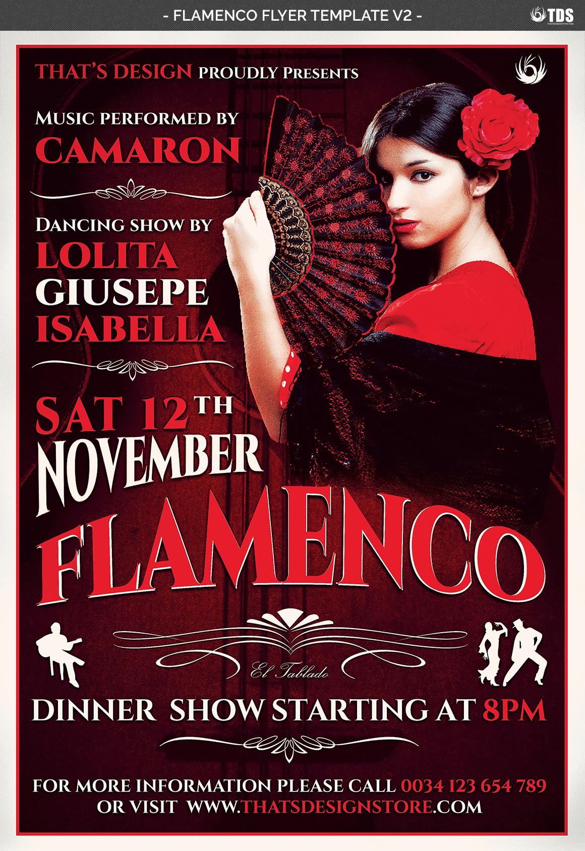 Flamenco Flyer Template V2 example image 4