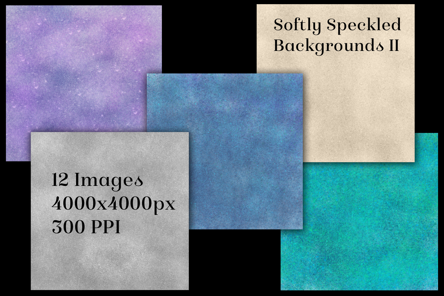 Softly Speckled Backgrounds II - 12 Image Textures Set example image 2