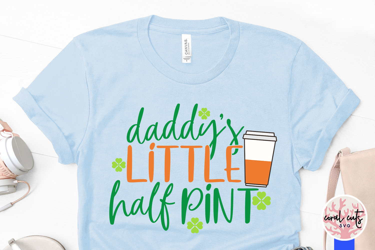 Daddys little half pint - St. Patrick's Day SVG EPS DXF PNG example image 3