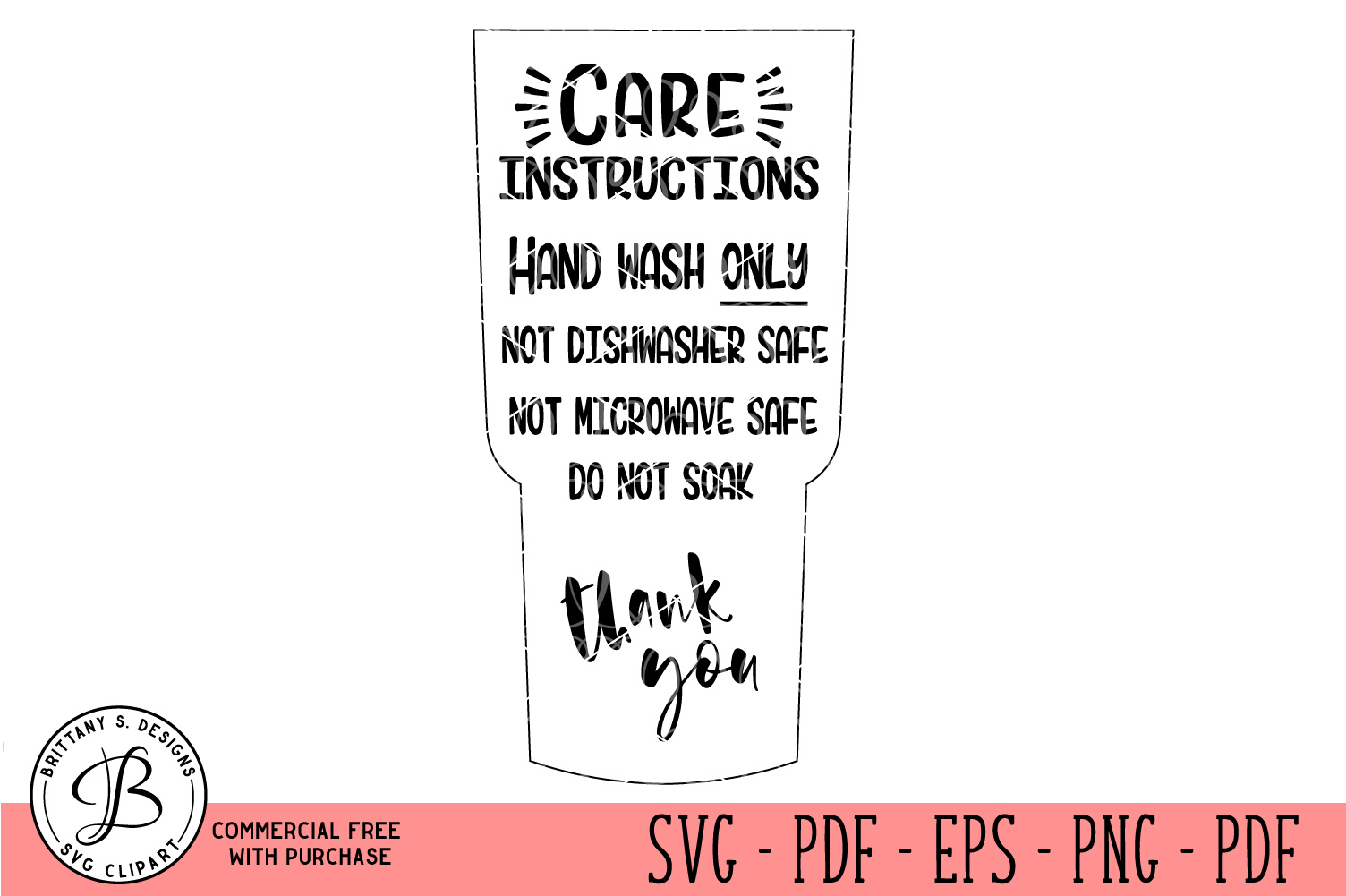 Care Card Instruction SVG, Care Card Bundle SVG example image 10