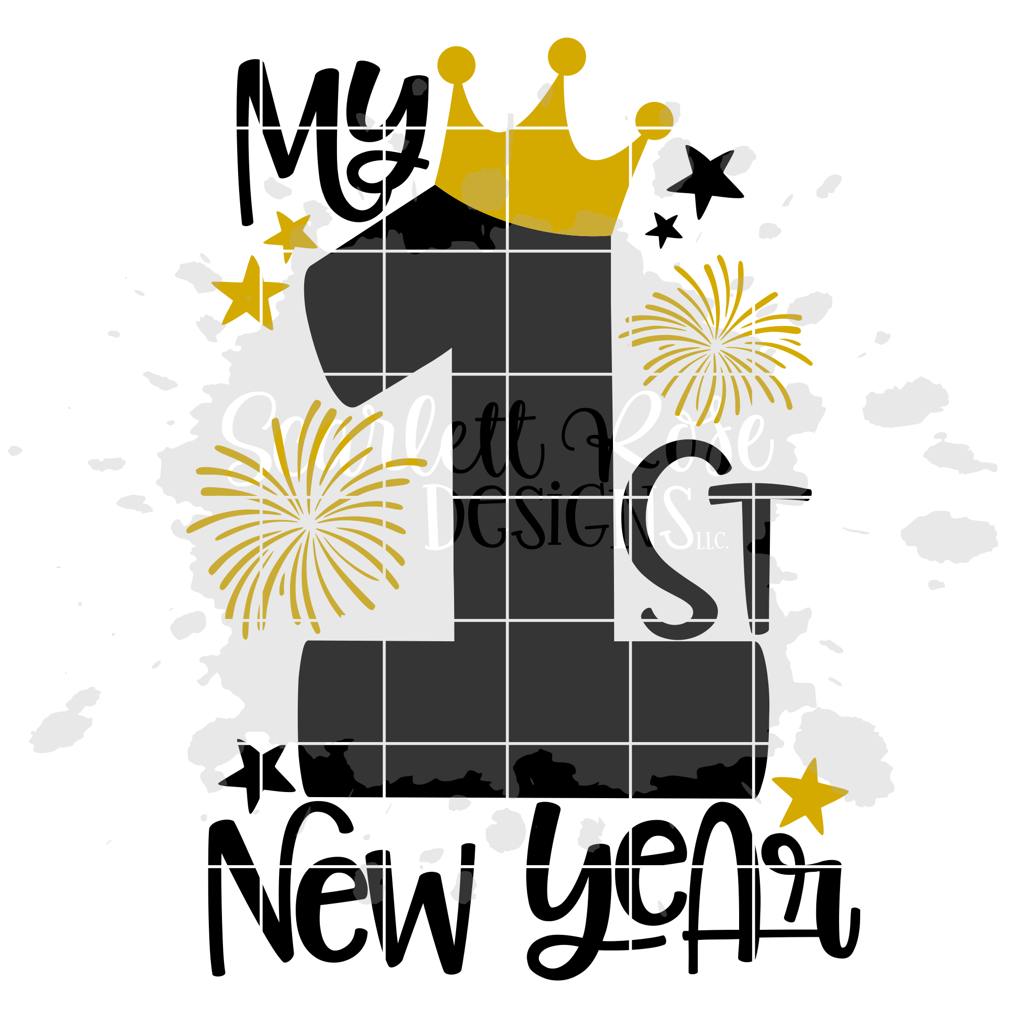 My First New Year - Girl - New Year's SVG example image 2