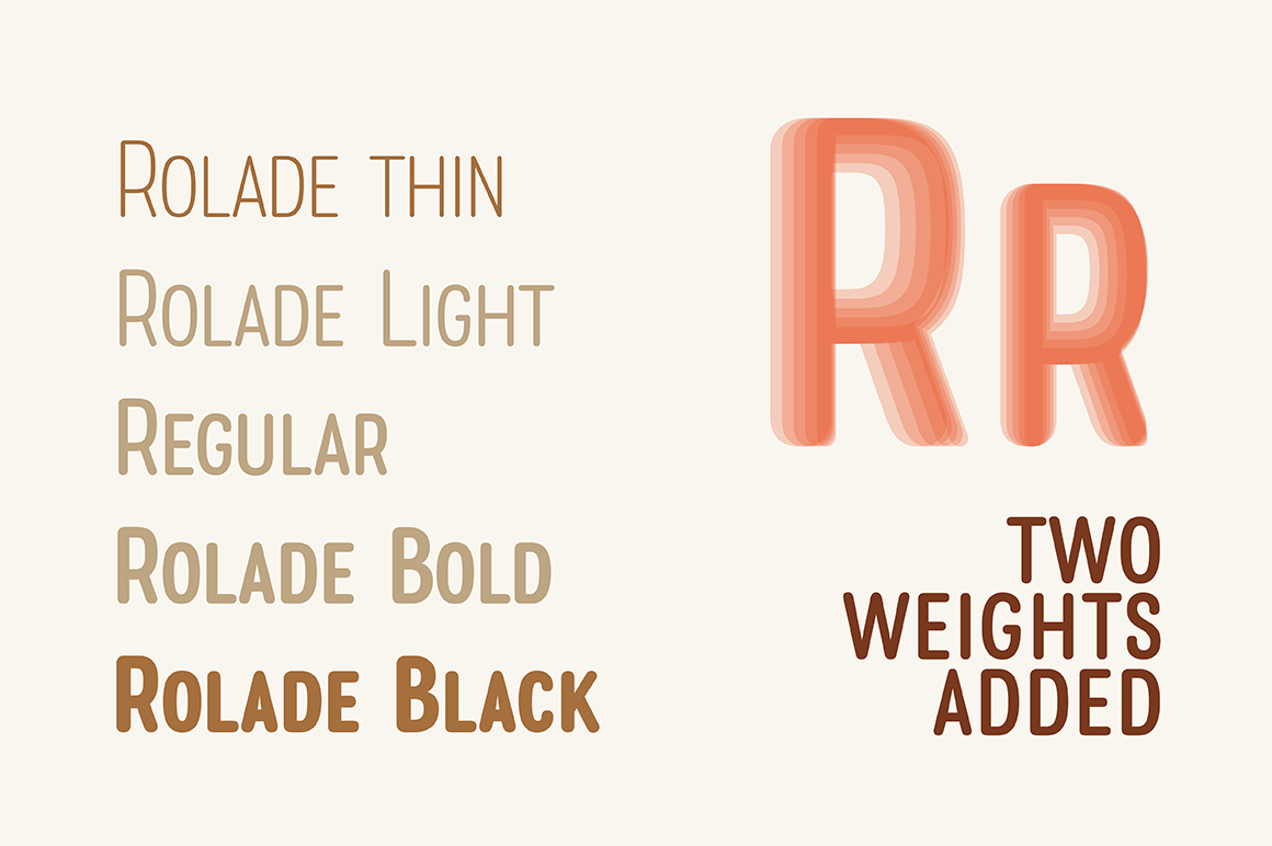 Rolade Typeface example image 2