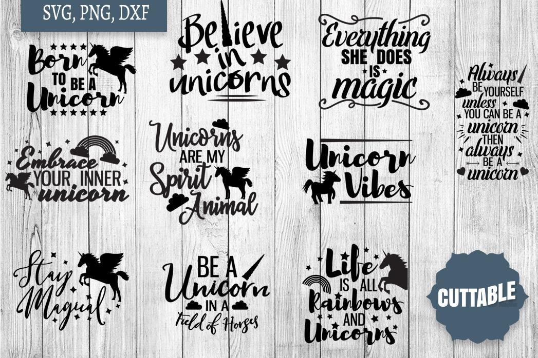 Unicorn cut file Bundle, Unicorn quote SVGs, Magical SVGs example image 1