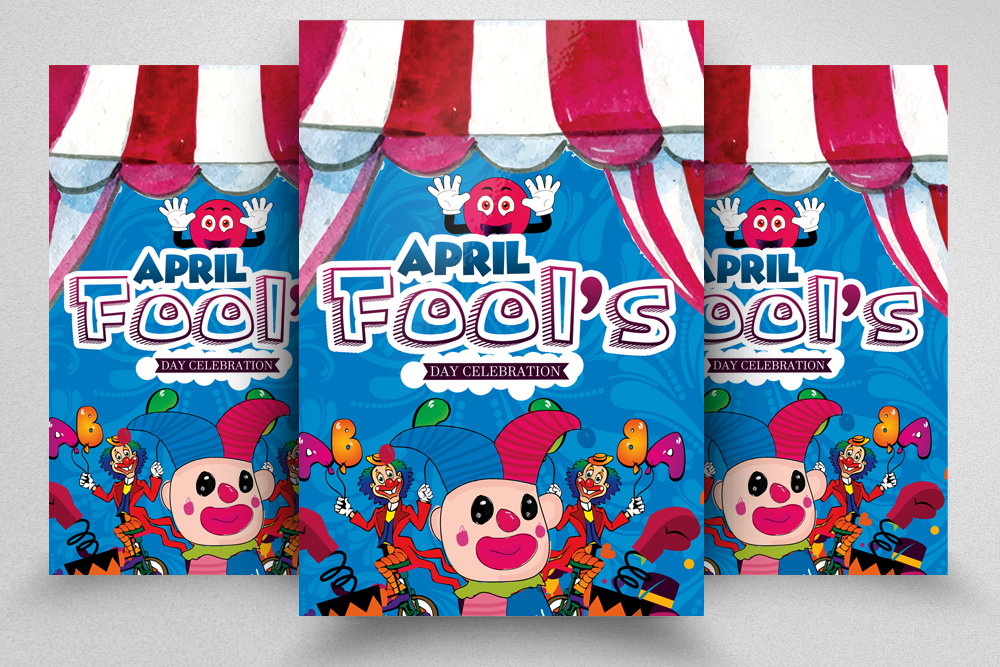 4 April' Fool Party Flyers Bundle example image 4