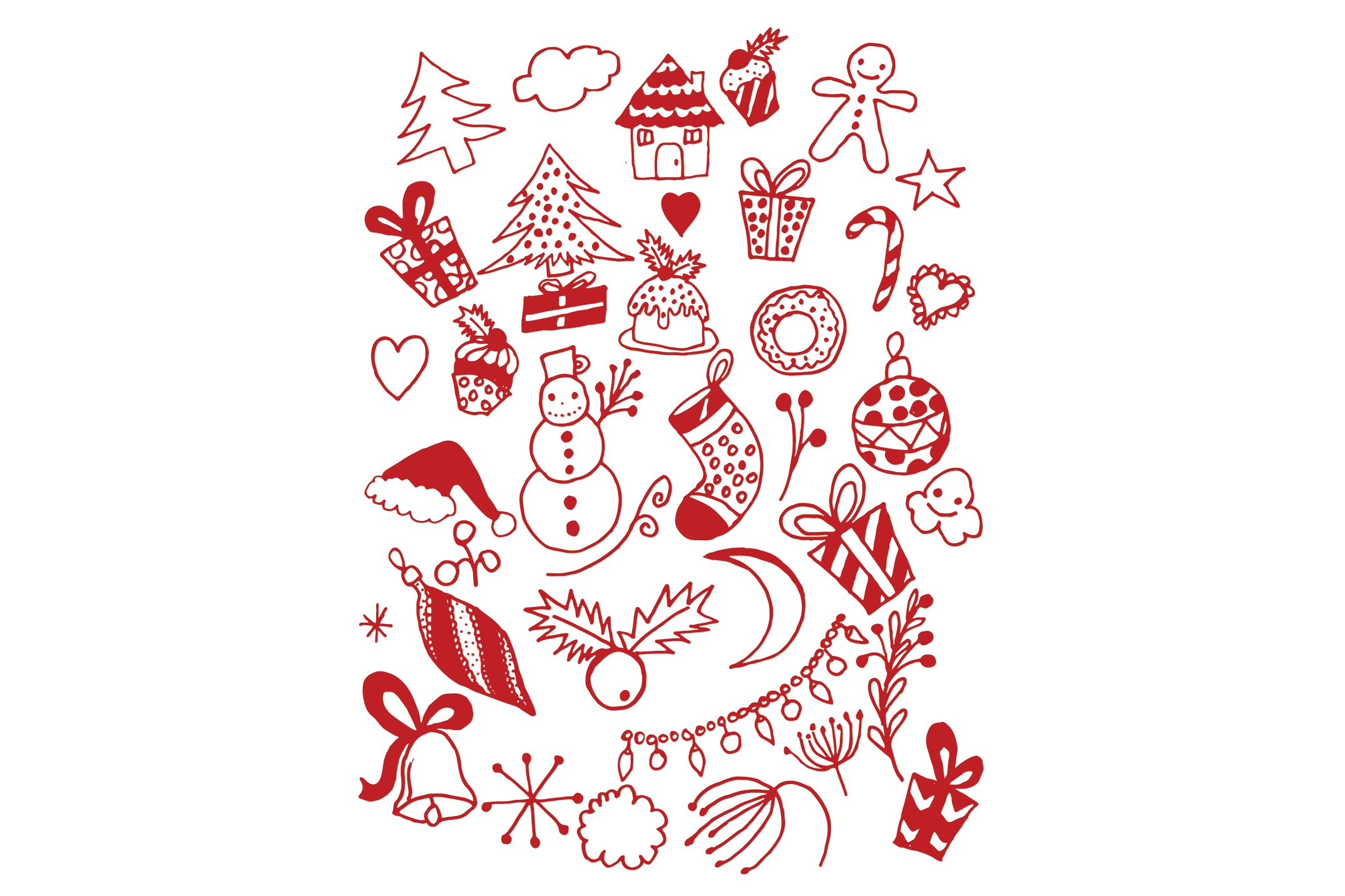 Hand Drawn Christmas Doodles example image 3