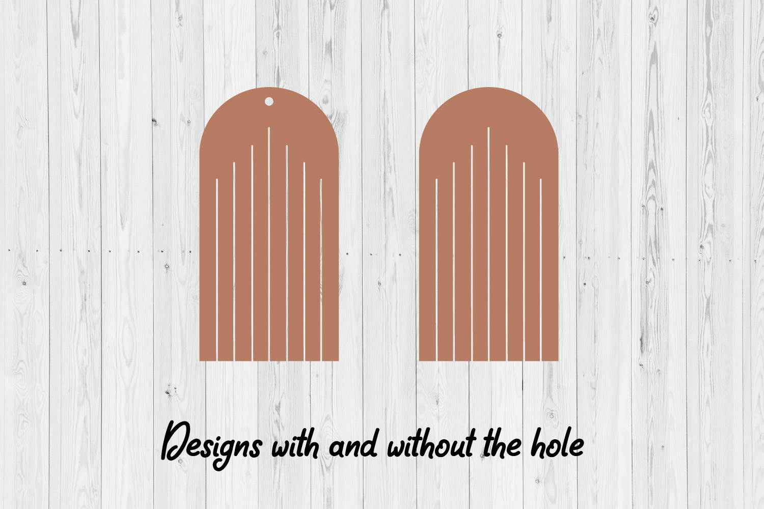 50 Fringe earrings designs | Leather Jewelry | Laser cut SVG example image 2