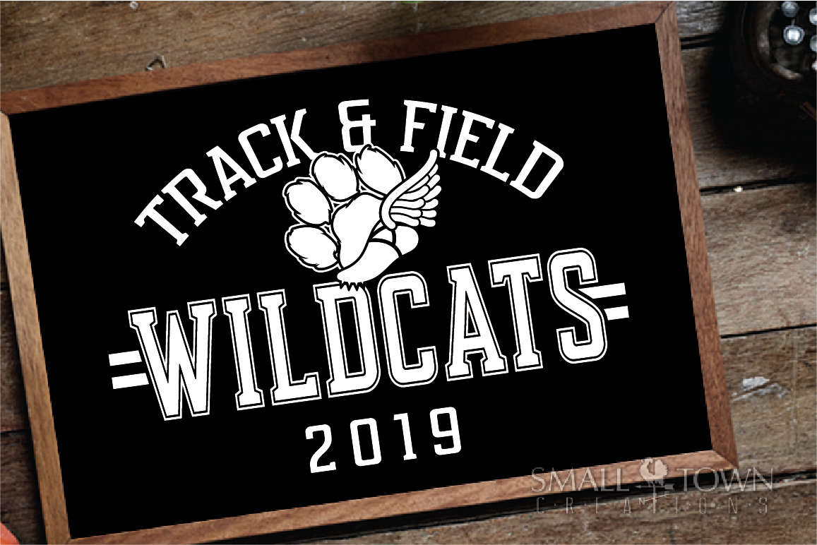 Wildcats Track and Field, Wildcat mascot, PRINT, CUT, DESIGN example image 3