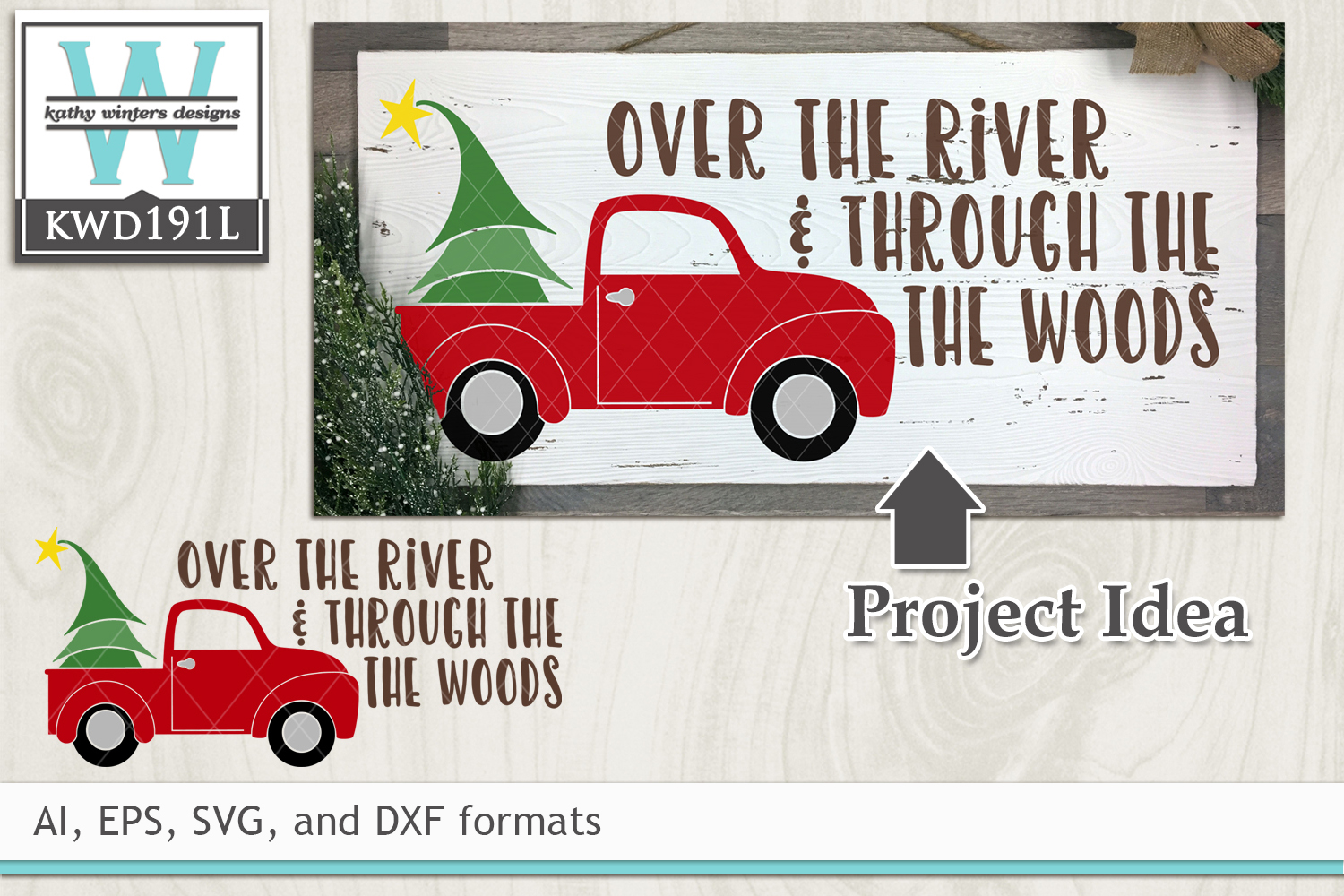Christmas SVG - Over The River example image 1