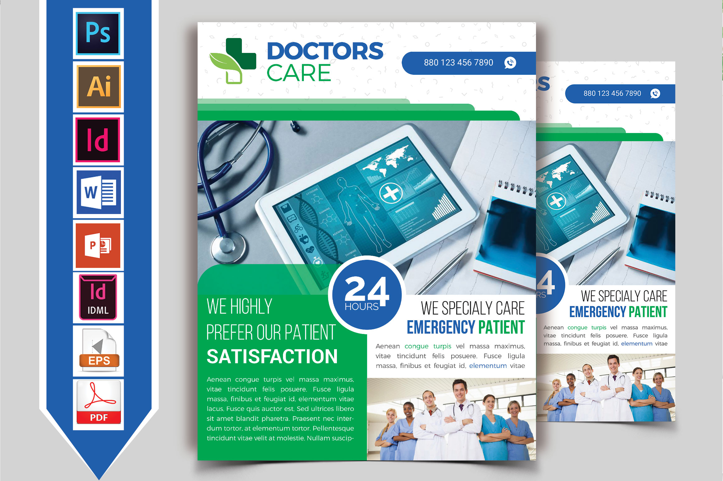 Doctor & Medical Flyer. Vol-04 example image 2