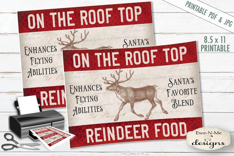 Printable Christmas Tags - Reindeer Food - Rooftop - PDF JPG example image 2