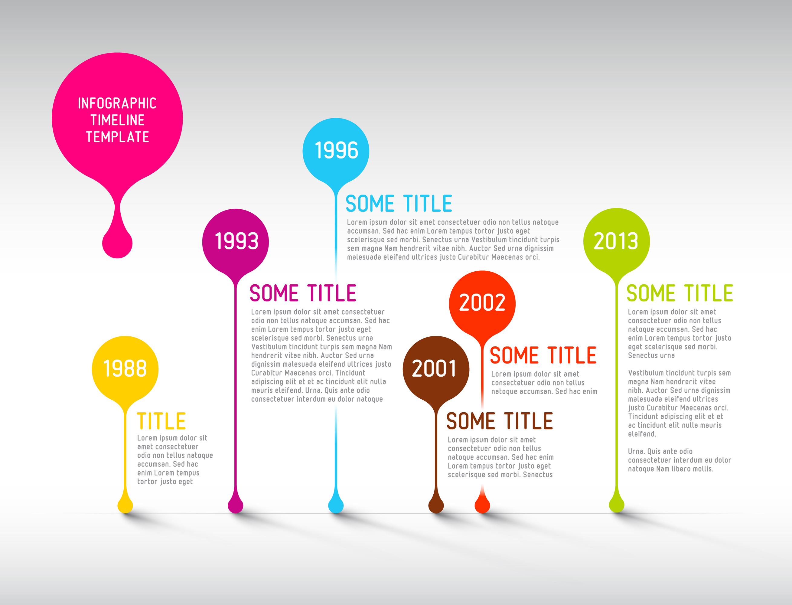 Infographic Timeline Templates Bundle example image 7
